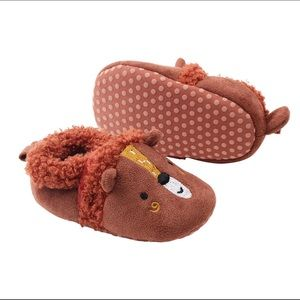 Toddler Infant Newborn Baby Red Brown Bear Shoes